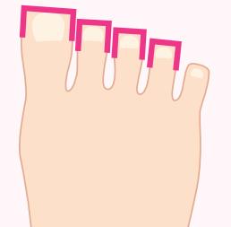 四角い足の指イラスト画像
