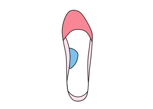 土踏まずを支えるインソールイラスト画像