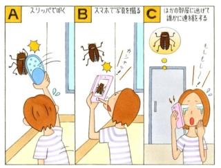 【心理テスト】部屋の中に大きな虫が…! あなたがとった行動は?