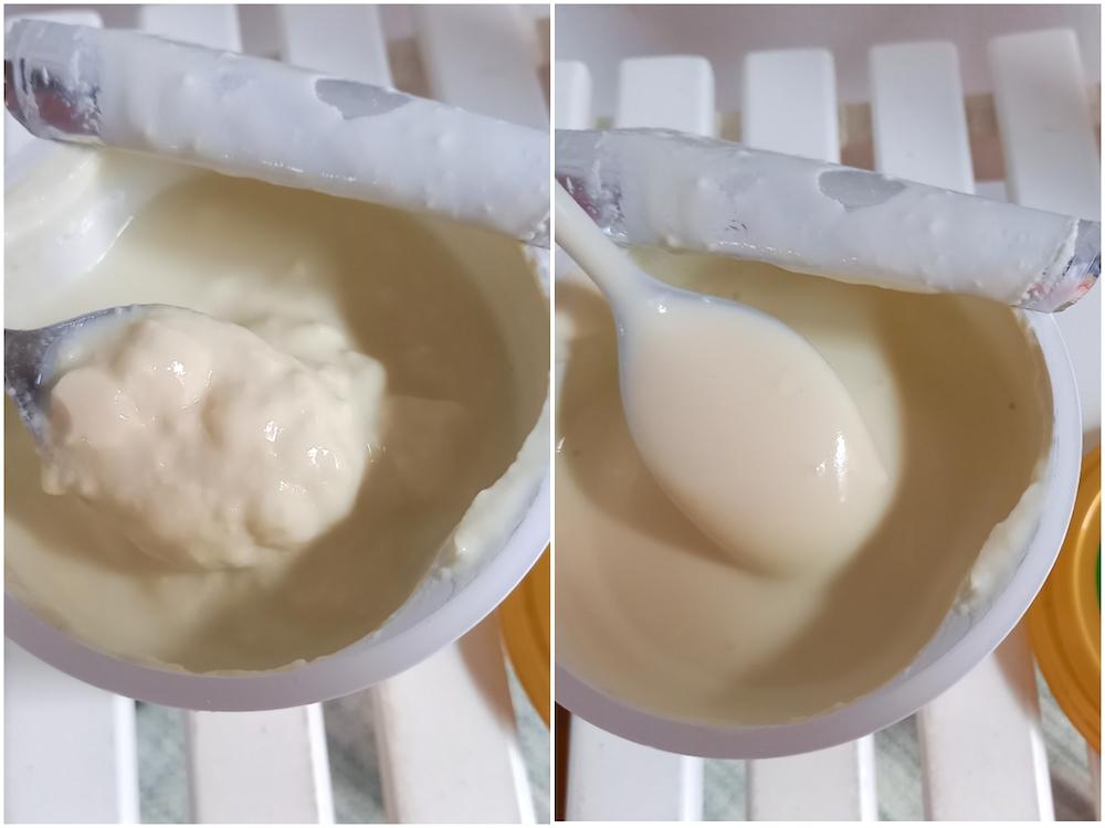 大豆ヨーグルトを混ぜた写真