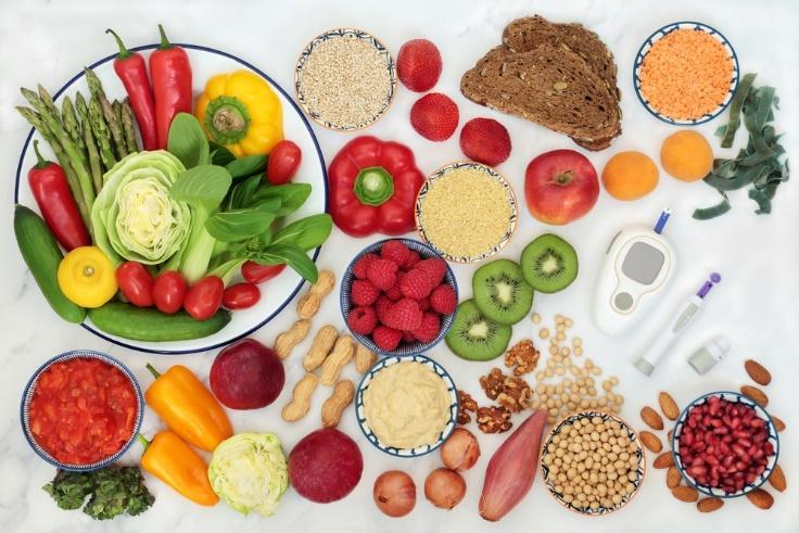 血糖値の上昇を抑えるのによいとされる食べもののイメージ画像