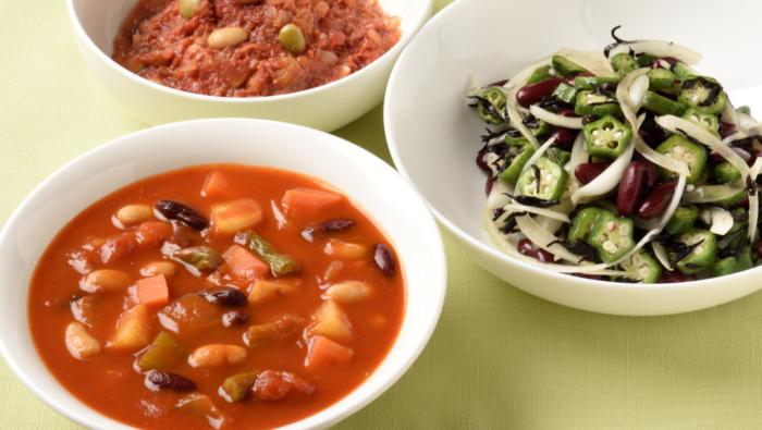 ミネストローネレシピ!トマト缶と加工豆で、煮込むほどおいしい